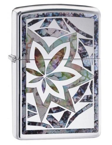 Zippo Upaljač High Polish Chrome Fusion Leaf