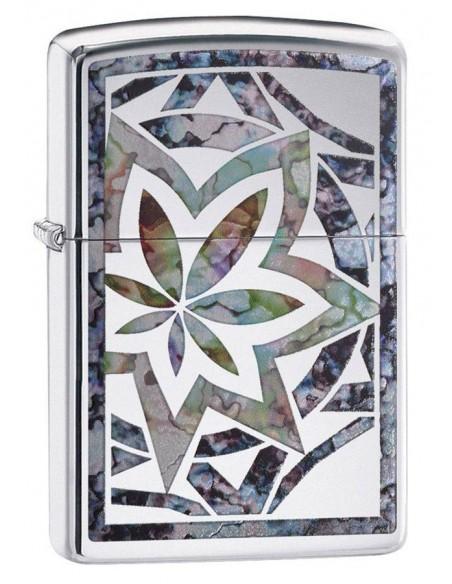 Zippo Lighter Classic High Polish Chrome Fusion Leaf